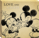 Disney Mickey Mouse - Multi Mickey Sketch Love and Laugh Canvas Stretched Canvas Print