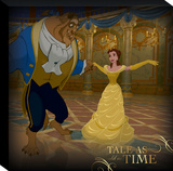 Disney Beauty and the Beast - Belle Frame Couple Dance Canvas Gallery Wrapped Canvas