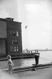 Boy Jumping Lámina giclée de primera calidad por Ruth Orkin