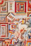 Palazzo parzialmente distrutto Stampa giclée premium di Paul Klee