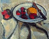 Stillleben mit Erdbeeren Gicléetryck på högkvalitetspapper av Paula Modersohn-Becker