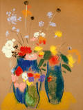 Drei Vasen mit Blumen Lámina giclée premium por Odilon Redon