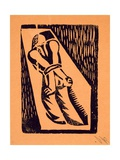 Prisoner, from '13 Woodcuts by Siqueiros', Published 1931 Gicléetryck av David Alfaro Siqueiros
