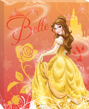 Disney Beauty and the Beast - Belle Castle Canvas Stretched Canvas Print