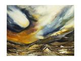 Mountainous Landscape; Paisaje Montanoso Gicleetryck av David Alfaro Siqueiros