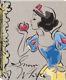 Disney Snow White - Snow White Fashionista Kiss Canvas Stretched Canvas Print