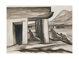 Search, from the Series 'Horrors of the Revolution', 1926-1927 Gicléetryck av Jose Clemente Orozco