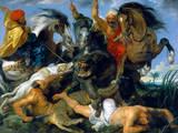 Jagd Auf Nilpferd und Krokodil Wydruk giclee premium autor Peter Paul Rubens