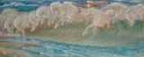 Neptune's Horses Premium Giclee Print by Walter Crane