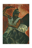 'Juarez and the Defeat of the Empire' Mural, Detail from 'The Political Cleric' Giclee Print by Jose Clemente Orozco