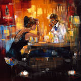 Bar Scene I Premium Giclee Print by Rhanavardkar Madjid