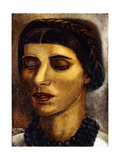 Portrait of Blanca Luz; Retrato De Blanca Luz, 1931 Gicleetryck av David Alfaro Siqueiros