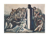 The Raising of Lazarus, 1943 Gicléetryck av Jose Clemente Orozco