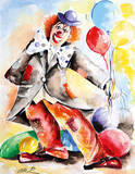 Clown II Premium Giclee Print by Pasquale Colle