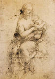 Study for the Madonna Reproduction procédé giclée Premium par  Raphael