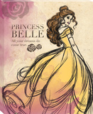 Disney Beauty and the Beast - Belle Fashionista Vintage Canvas Stretched Canvas Print