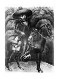 Emiliano Zapata (1879-1919) 1930 Giclee Print by David Alfaro Siqueiros