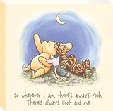 Disney Winnie the Pooh - Pooh Best Friends Canvas Stretched Canvas Print