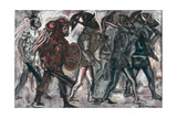 Los Teules, C.1945 Giclee Print by Jose Clemente Orozco