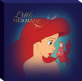 Disney The Little Mermaid - Ariel Frame Mermaid Canvas Stretched Canvas Print