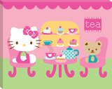 Hello Kitty Tea Party Canvas Gallery Wrapped Canvas