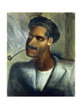 Man with Pipe; Hombre Con Pipa Giclee Print by David Alfaro Siqueiros