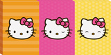 Hello Kitty Tri Panel Canvas Stretched Canvas Print