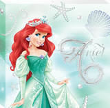 Disney The Little Mermaid - Ariel Tiara Canvas Stretched Canvas Print