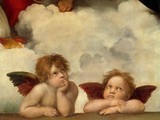 Two Angels Reproduction giclée Premium par  Raphael