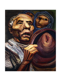 Mexican Farmers; Campesinos Mexicanos, 1959 Giclee Print by David Alfaro Siqueiros