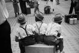 Three Boys on Suitcase Premium Giclee Print by Ruth Orkin
