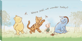 Disney Winnie the Pooh - Pooh Where Shall We Wonder Canvas Stretched Canvas Print