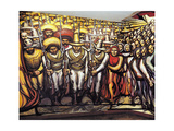 The Revolution Gicléetryck av David Alfaro Siqueiros
