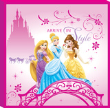 Disney Princess - Princess Arrive in Style Bridge Canvas Gallery Wrapped Canvas