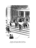 """""""Goodness, what do you suppose the Rector's message for the troubled world…"""" - New Yorker Cartoon Premium Giclee Print by Robert J. Day"""