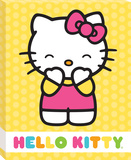 Hello Kitty Yellow Polka Dots Canvas Stretched Canvas Print