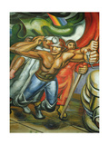 Procession of Workers and Miners, from the Cycle, 'The Mexican People Call for Social Security' Gicléetryck av Jose Clemente Orozco