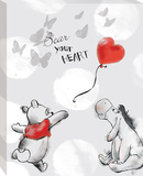 Disney Winnie the Pooh - Pooh Bear Your Heart Canvas Stretched Canvas Print