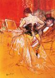 Femme, Mettant Son Corset Lámina giclée de primera calidad por Henri de Toulouse-Lautrec