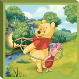 Disney Winnie the Pooh - Pooh Hula Canvas Stretched Canvas Print
