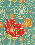 Floral Patterned - 2015 Engagement Calendar Calendars