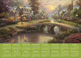 Thomas Kinkade Painter of Light - 2014-15 16-Month Poster Calendar Calendars