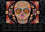 Sugar Skulls - 2014-15 16-Month Poster Calendar Calendars