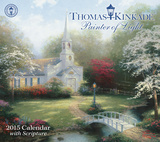 Thomas Kinkade Painter of Light with Scripture - 2015 Deluxe Calendar Calendars