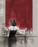 Evening Lounge Red Study Posters by Brent Lynch