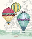 Vintage Air Balloon Adventure Posters by Hope Smith