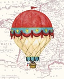 Vintage Red Air Balloon Prints by Hope Smith
