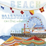 Boardwalk Medley - Square Prints by Mary Escobedo