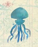 Maritime Jelly Fish Print by  Z Studio