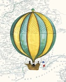 Vintage Striped Air Balloon Posters by Hope Smith